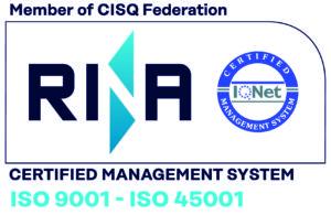 Azienda Certificata ISO 9001 - ISO 45001